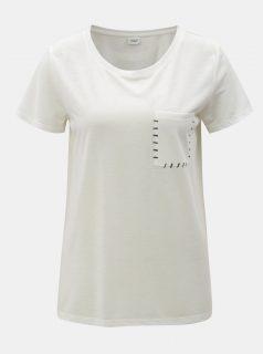 Bílé tričko s náprsní kapsou Jacqueline de Yong Goa