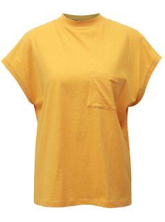 Žluté tričko s náprsní kapsou Noisy May Sia