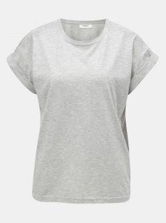 Šedé žíhané oversize tričko Moss Copenhagen