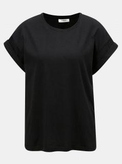 Černé oversize tričko Moss Copenhagen