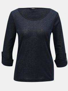 Modré třpytivé tričko ONLY Silvery