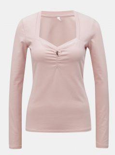 Světle růžové tričko s dlouhým rukávem Blutsgeschwister