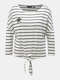 Bílé volné vzorované tričko s třpytivou aplikací Dorothy Perkins