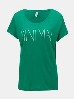 Zelené tričko s potiskem a krátkým rukávem Blendshe Minimal