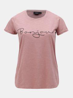 Starorůžové tričko s výšivkou  Zizzi Bon