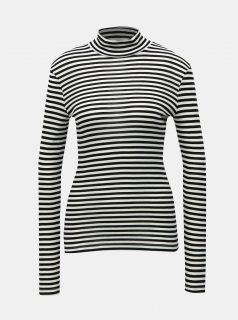 Bílo-černé pruhované tričko se stojáčkem VERO MODA Vita