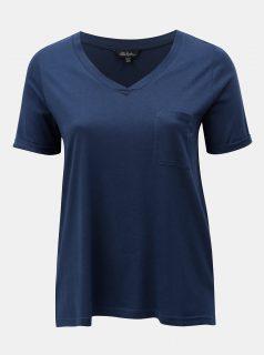 Tmavě modré tričko s náprsní kapsou Ulla Popken