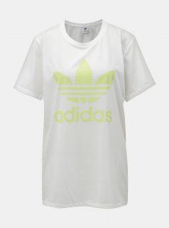 Bílé dámské volné tričko s logem adidas Originals