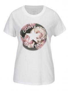 Krémové dámské tričko s potiskem Converse Floral
