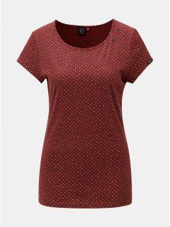 Vínové dámské vzorované tričko Ragwear