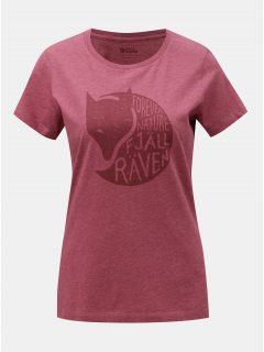 Vínové dámské žíhané tričko s potiskem Fjällräven Forever
