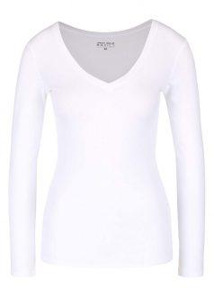 Bílé basic tričko s dlouhým rukávem TALLY WEiJL