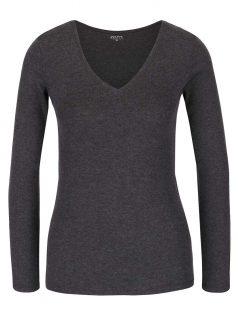 Tmavě šedé basic tričko s dlouhým rukávem TALLY WEiJL