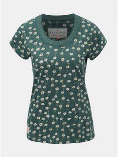 Zelené dámské květované tričko s krátkým rukávem Brakeburn