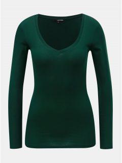Tmavě zelené basic tričko s dlouhým rukávem TALLY WEiJL