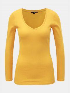 Hořčicové basic tričko s dlouhým rukávem TALLY WEiJL