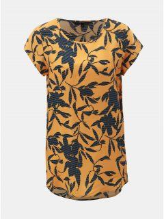 Modro-oranžové květované tričko s krátkým rukávem VERO MODA Boca