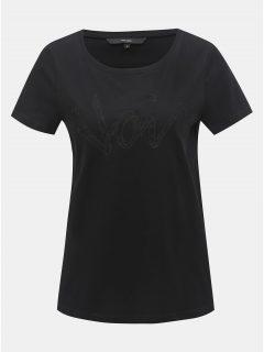 Černé tričko s krajkovou nášivkou VERO MODA Loving