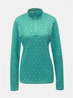 Zelené dámské vzorované funkční tričko LOAP Midi