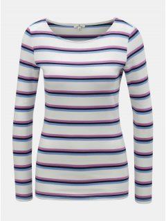 Fialovo-bílé dámské pruhované tričko Tom Tailor