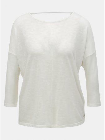 Krémové dámské volné tričko s 3 4 rukávem Tom Tailor Denim - Dámská ... d6b93d297f