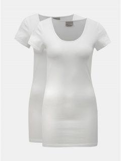 Sada dvou dlouhých bílých triček VERO MODA Maxi