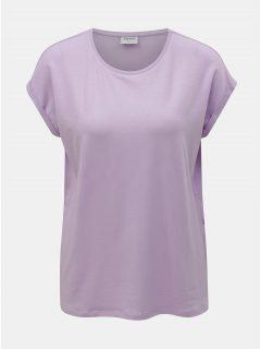 Světle fialové volné basic tričko VERO MODA Mava