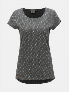 Tmavě šedé dámské puntíkované tričko Ragwear Mint Dots