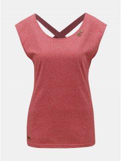 Červené dámské žíhané tričko s pásy na zádech Ragwear Sofia