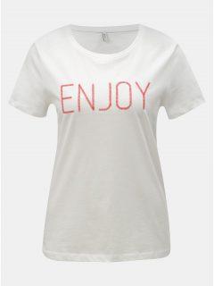 Bílé tričko s výšivkou ONLY Lelia
