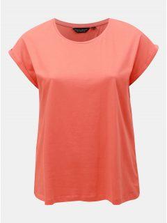 Oranžové basic tričko Dorothy Perkins Curve