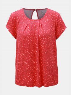 Červené puntíkované tričko s průstřihem na zádech ONLY Nice