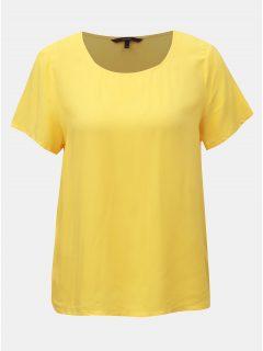 Žluté basic tričko VERO MODA Simply
