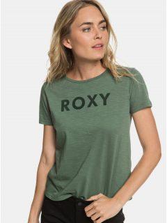Zelené tričko Roxy Red Sunset