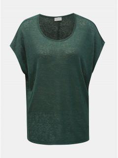 Zelené průsvitné tričko VILA Sumi