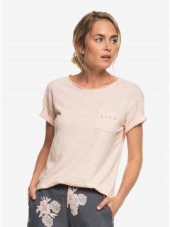 Světle růžové tričko s kapsou Roxy Star Solarb