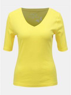 Žluté basic tričko M&Co
