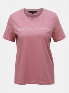 Starorůžové tričko s výšivkou VERO MODA Sarah