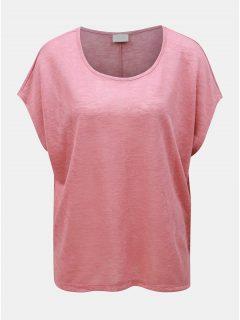 Růžové oversize tričko VILA Sumi