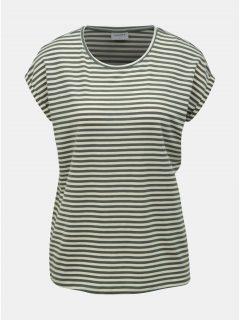 Zelené pruhované basic tričko VERO MODA AWARE Ava