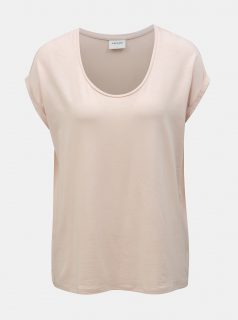 Světle růžové basic tričko VERO MODA AWARE Cina