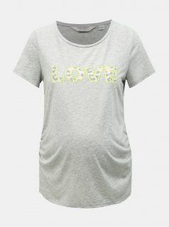 Šedé těhotenské žíhané tričko Dorothy Perkins Maternity