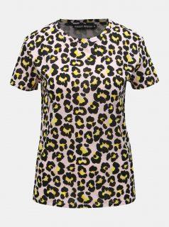Růžové tričko s leopardím vzorem TALLY WEiJL