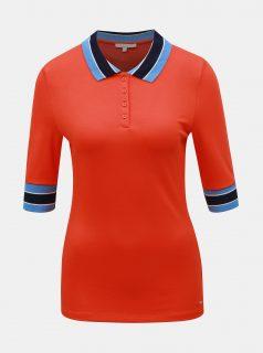 Červené dámské polo tričko Tom Tailor Denim