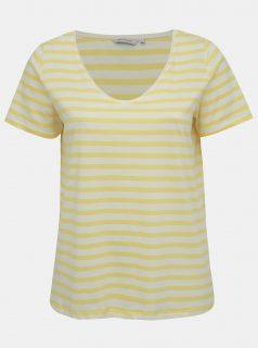 Žluté pruhované oversize basic tričko ONLY CARMAKOMA Live