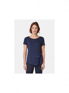 Tmavě modré dámské tričko s uzlem Tom Tailor