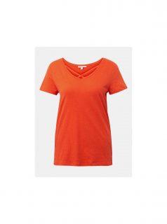 Oranžové dámské tričko Tom Tailor Denim