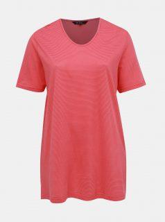 Růžové pruhované tričko Ulla Popken