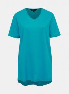 Tyrkysové pruhované tričko Ulla Popken