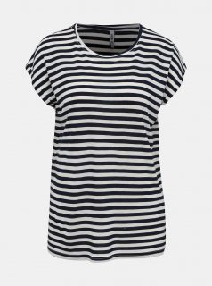 Bílo-modré dámské pruhované tričko Haily´s Glenn
